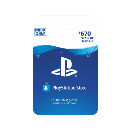 PlayStation Wallet Top Up INR 670 (India)