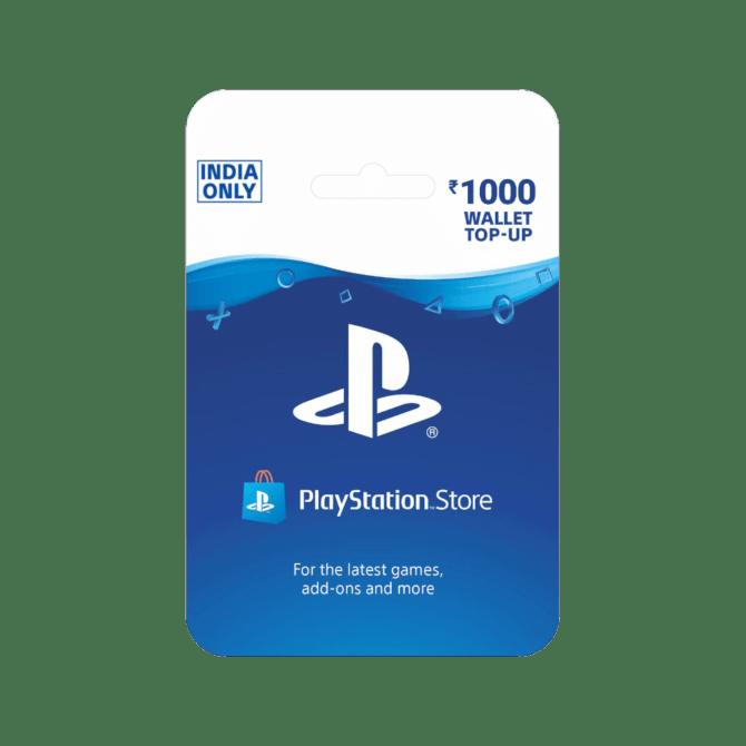 PlayStation Wallet Top Up INR 1000 (India)