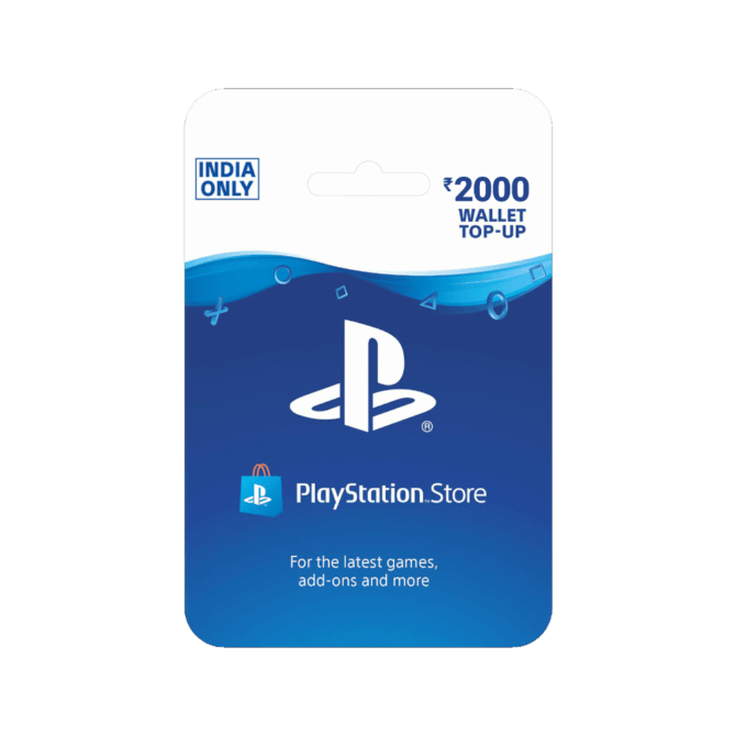 PlayStation Wallet Top Up INR 2000 (India)