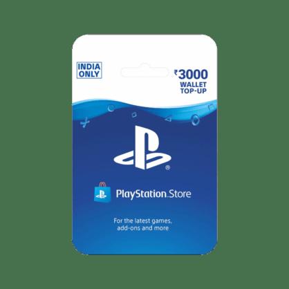 PlayStation Wallet Top Up INR 3000 (India)