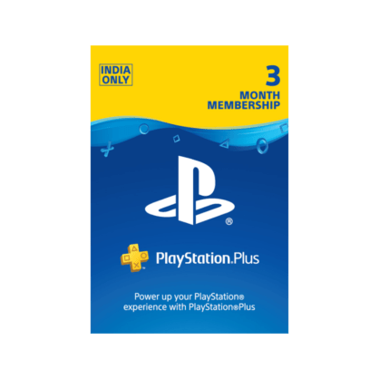 PlayStation Plus 3 Month Membership (India)