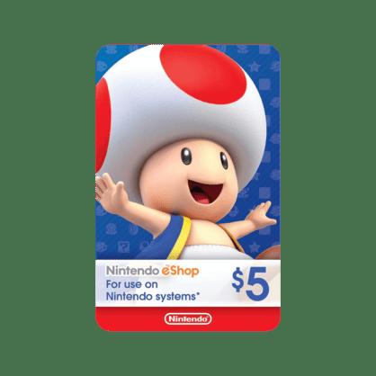 $5 Nintendo eShop Gift Card (US)