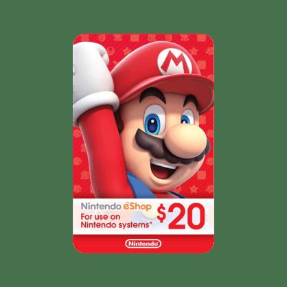 $20 Nintendo eShop Gift Card (US)