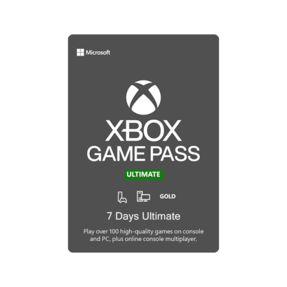 Xbox Game Pass Ultimate – 7 Days Subscription (Xbox / Windows 10)