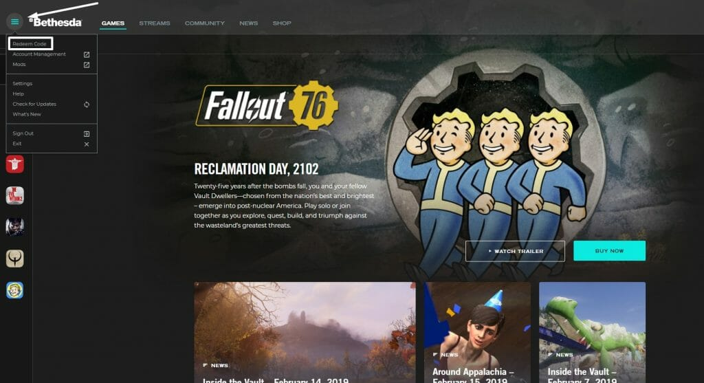 How to activate a Bethesda.net Code