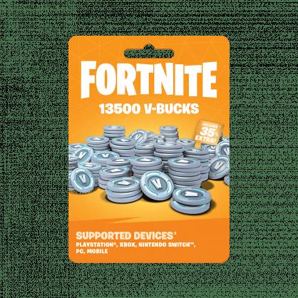 Fortnite: 13500 V-Bucks Gift Card