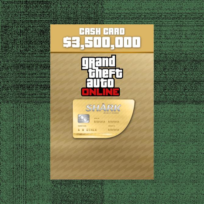 Grand Theft Auto Online: Whale Shark Cash Card $3,500,000 (PC)