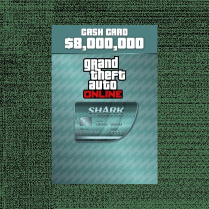 Grand Theft Auto Online: Megalodon Shark Cash Card $8,000,000 (PC)