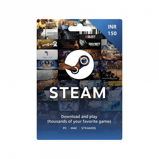 Steam Wallet Gift Card INR 150 (India)