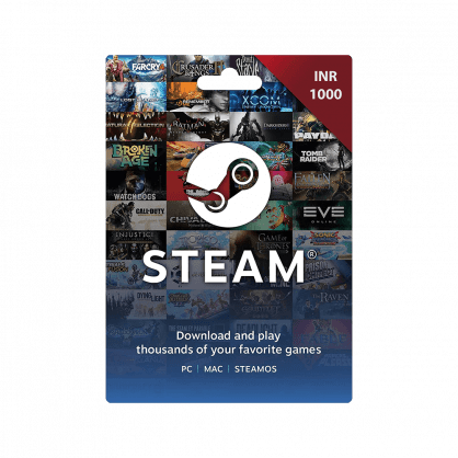 Steam Wallet Gift Card INR 1000 (India)