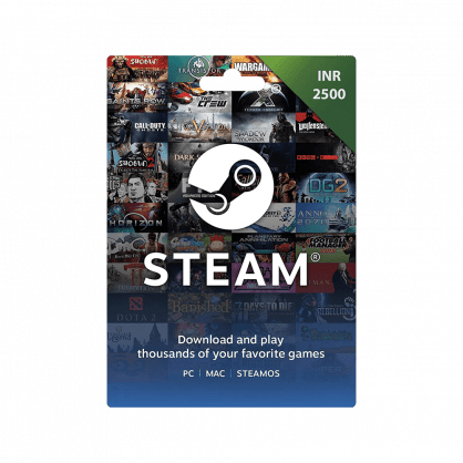 Steam Wallet Gift Card INR 2500 (India)