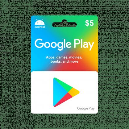 Google Play $5 Gift Card (US)