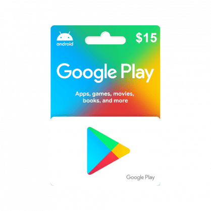 Google Play $15 Gift Card (US)